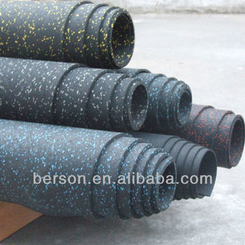 rubber gym flooring/commercial rubber roll/gym flooring/fitness gym flooring