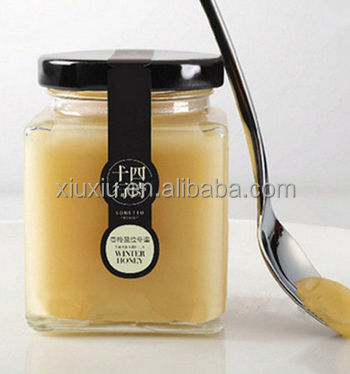 new style quadrilateral 200ml lead free glass bottle for honey
