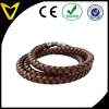 Personalize Brown Leather Triple Wrap Around Braided Bracelet