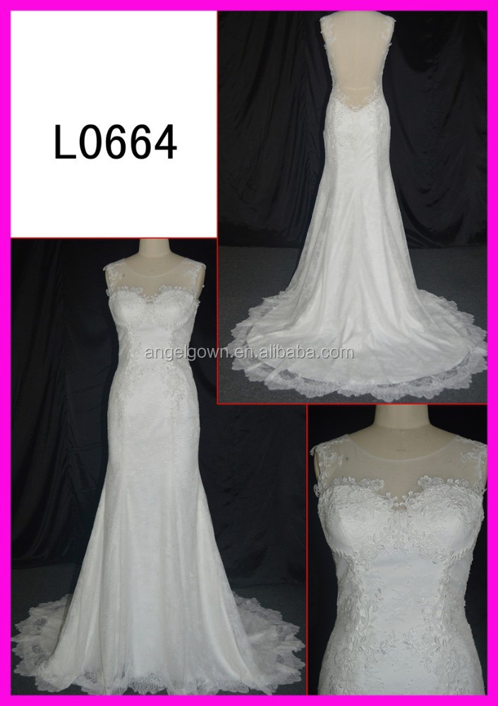 canton fair new arrival lace mermaid wedding dresses fashionable lace lady dresses
