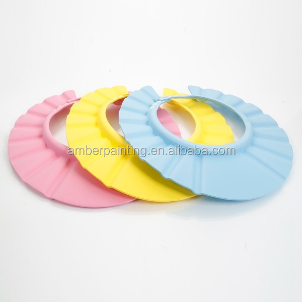 Adjustable baby shampoo cap eva foam kids bath cap