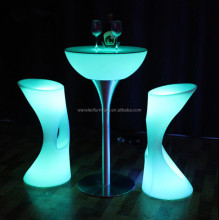 LED illuminated glowing bar table table for outdoor events