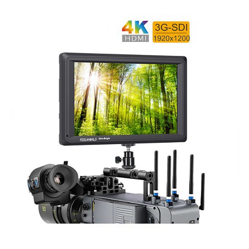 FW279S 7 Inch 2200nit Daylight Viewable 3G-SDI Mini HD MI Camera Field 4K <strong>Monitor</strong> For Shooting