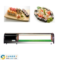 Hot Sell Refrigerated Class And Bakery Sushi Showcase Made Of Stainless Steel (SUNRRY SY-SS1500A)