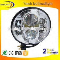 "Opplight Factory price 80w 7inch headlight hi/lo beam round motor auto 7"" led for wrangler harley motorcycle"