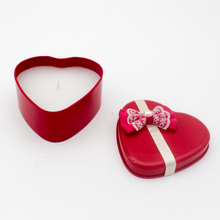 Hot Sale Customized Heart Shaped Candle Tin Cans