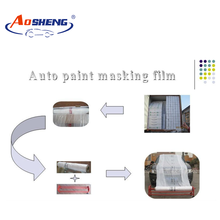 Masking Use automotive spray paint static cling film