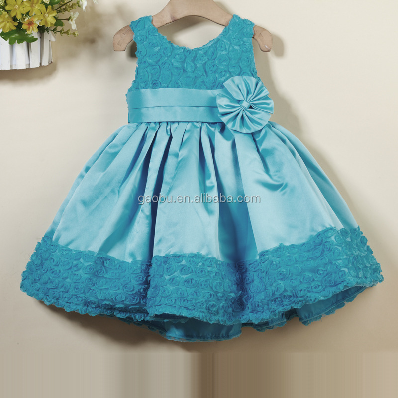 2017 summer kids boutique skirt girls formal party dress