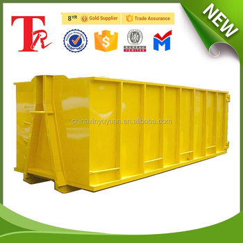 7ft roll off dumpster metal garbage containers / hook lift bin for sale