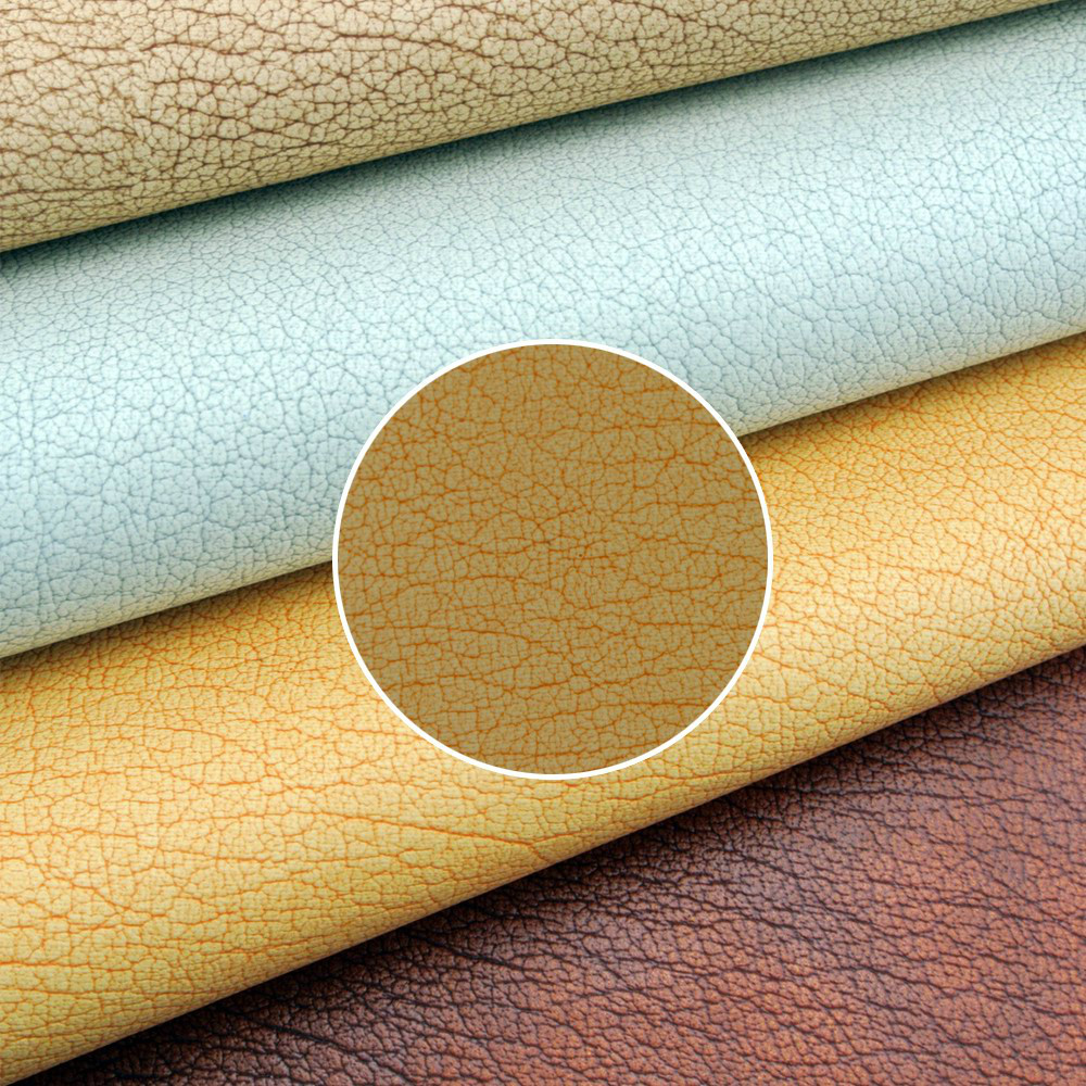Buy leatherette fabric online color brown faux leather material China faux leather buy