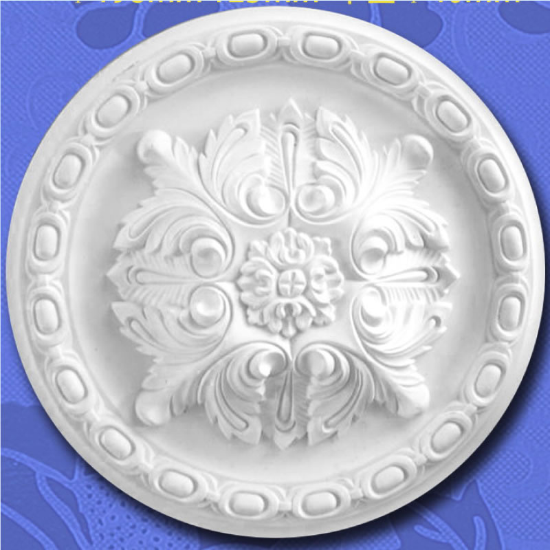 Gypsum Plaster Ceiling Center Rose Dome Center Panel Medallion