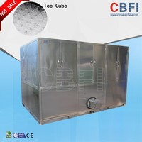 Stainless stell edible dry cube ice making machine hot