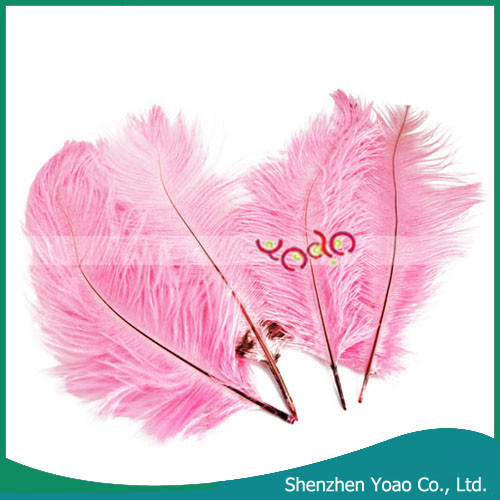 Cheap 10Pcs Home Decor Pink Artificial Ostrich Feathers For Sale