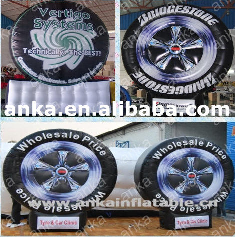 Inflatable tire balloon/ inflatable tire/ advertising inflatable tire