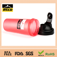 500ml good qualitty protein shaker mugs bottle PP plastic Item No. SHK-027B with black cap