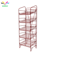 australia supermarket equipment accessories customized gondola grid mini advertising shelf iron wire bread metal display shelf