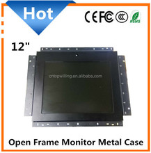 12 inch open frame lcd monitor without case or with metal case
