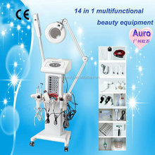 Multifunctional 14 in 1 skin care facial massage clean grease, black head Skin Scrubber beauty machine Au-2008