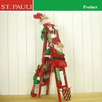 hot sale cute decorative climbing ladder elf christmas craft