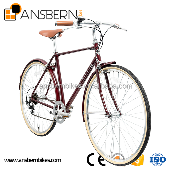 Hot Sale 700C 7 Speed City Bike Hot selling 28&quot steel frame city bike frame classice dutch bicycle KB-CB-M16040
