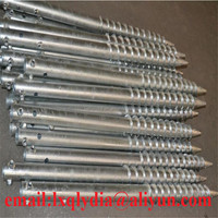 Hot-dipped Galvanized Ground Screw Anchor For Solar Panel Mounting System, High Quality Screw In Ground Anchor,Ground Pole
