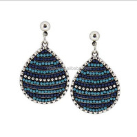 very popular waterdrop shaped earring charm piercing alloy earring bali jewelry earring accessory (EA80471)