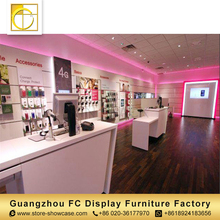 factory manufacturer accessory electronic shop decoration mobile phone shop showcase design cell phone display rack