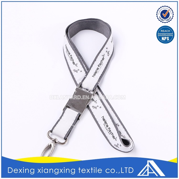 High quality fashion thick metal buckle key chain spring coil lanyard factory