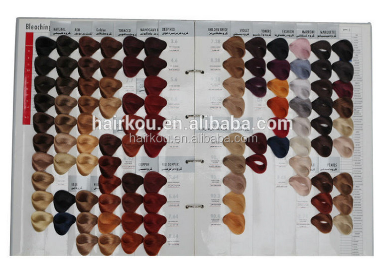 104 Shades hair color swatch book,color design hair color chart,hair color shades