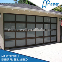 Unique design used commercial glass garage doors