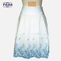 New design embroidery pattern girls cute skirts formal ladies short skirt designs