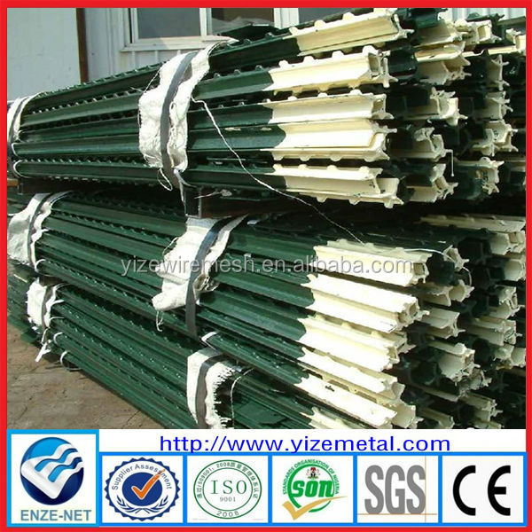 1.33lb per ft green painted studded t post , wholesale T shape American type fencing post ( Factory manufacturer )