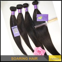 100% unprocessed Brazilian human hair weave products silky straight 4 pcs virgin hair 5A remy weft on sale