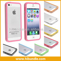 Colorful TPU + plastic Bumpers for iPhone 5 5g ,hot case cover for iPhone 5 bumper