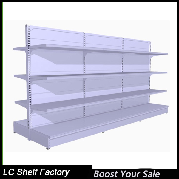double side vintage red wine store gondola shelving unit with plastic price strip tag