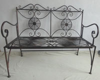 Decorative Metal Garden Outdoor Bench With Modern Design
