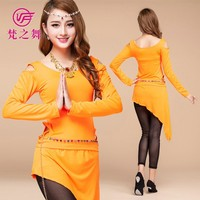 Long sleeves egyptian training belly dance costumes for Adult T-5076#