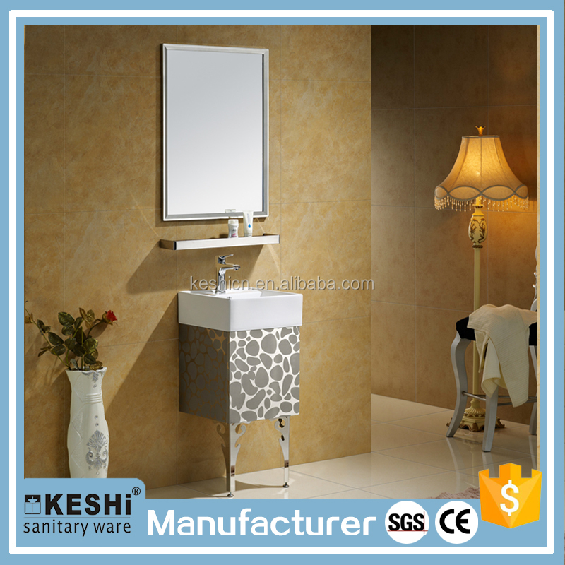 wholesale small size wall floor mounted bathroom kitchen cabinet with shelf