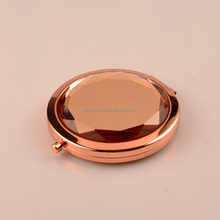 pocket round crystal compact mirror
