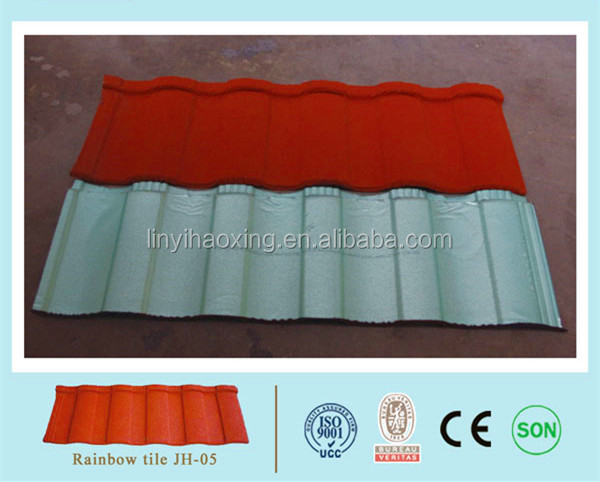 Classical Stone Coated Metal Roofing Tile