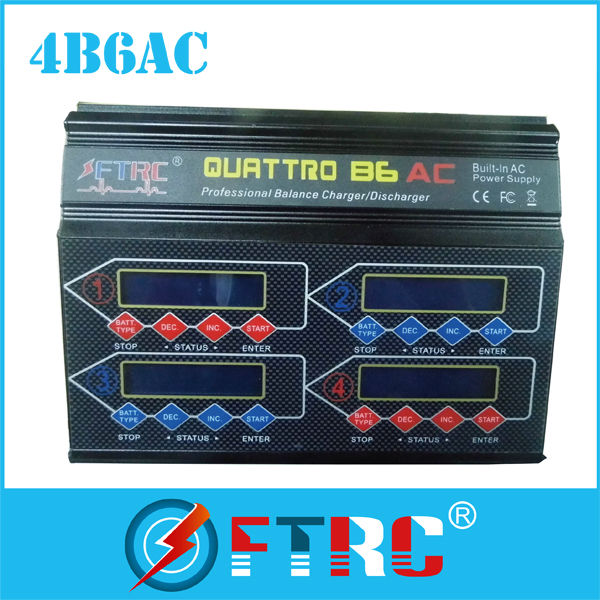 HRC44167 Hitec X4 AC Plus Four-Channel AC/DC Multi-Charger (6S/6A/50W x 4)