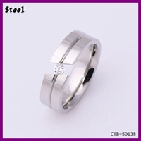 Beautiful Factory Design Tension Setting Lucky Stone Finger Ring