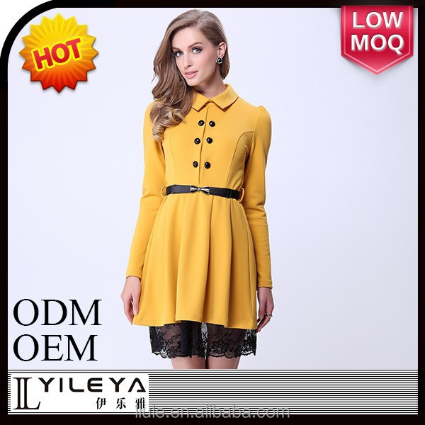 New design promotion product one piece slim ladies office wear dress