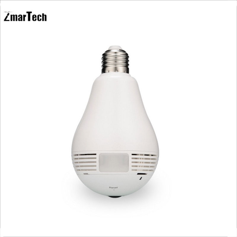 In stock china wholesale 360 view E27 led light 960P wifi bulb camera