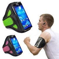 Nylon breathability velcro dustproof cell phone armbands for running case