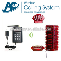 AC-restaurant paging system Restaurant calling Transmitter and coaster pager system,portable wireless waiter service paging call