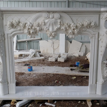 Hand carved Classical Indoor Marble Fireplace Surround