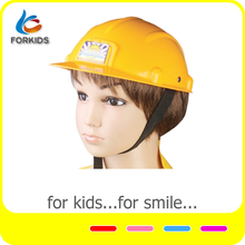 Kid's plastic construction worker toy helmet,cheap children toy safety helmet for pretend play game