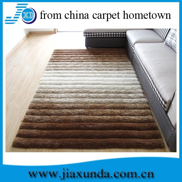 Rainbow design new discount thick high quality bedroom design shaggy carpet