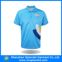 Custom cheap t shirts for men /orange and blue polo shirt